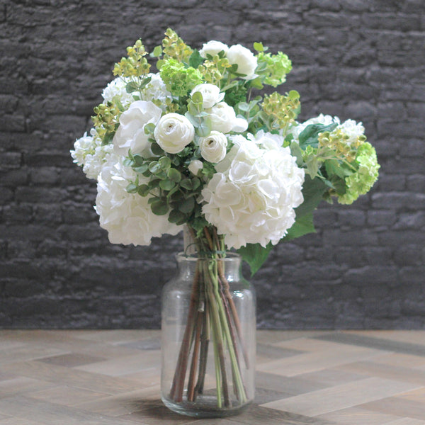 Artificial flowers luxury faux silk eternal elegance bouquet lifelike realistic faux flowers buy online from Amaranthine Blooms UK