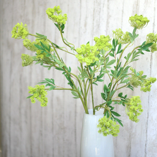 Artificial flowers luxury faux silk green cow parsley spray lifelike realistic faux flowers buy online from Amaranthine Blooms UK