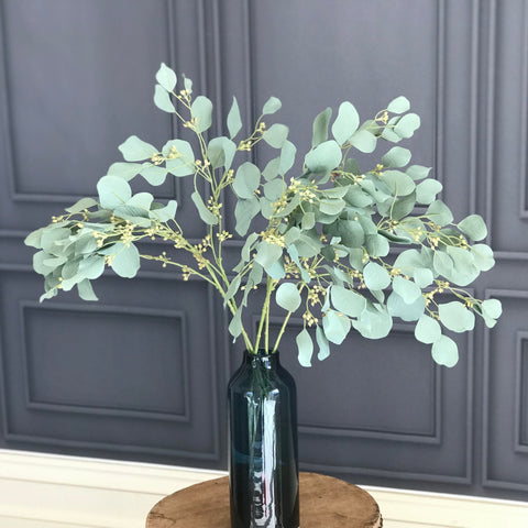 green eucalyptus & berries - bunch of 6 stems