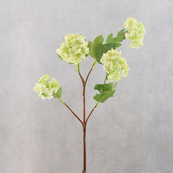 Artificial flowers luxury faux silk green viburnum snowballs lifelike realistic faux flowers buy online from Amaranthine Blooms UK
