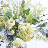 Artificial flowers luxury faux silk lifelike gathered greens bouquet realistic faux flowers buy online from amaranthine blooms UK
