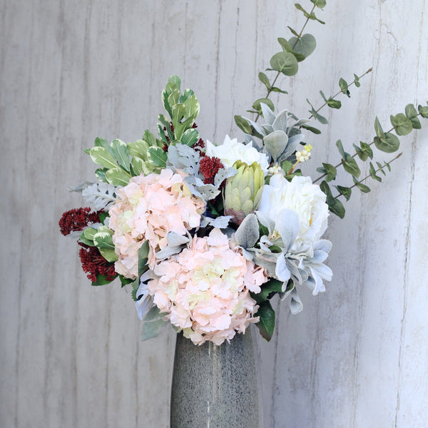 Artificial flowers luxury faux silk lifelike tickled pink bouquet realistic faux flowers buy online from amaranthine blooms UK