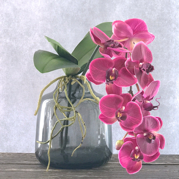 Artificial flowers luxury faux silk purple phalaenopsis orchid stem lifelike realistic faux flowers buy online from Amaranthine Blooms UK