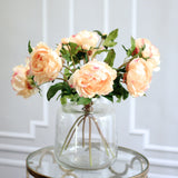 Artificial flowers luxury faux silk peach classic peony lifelike realistic faux flowers buy online from Amaranthine Blooms UK