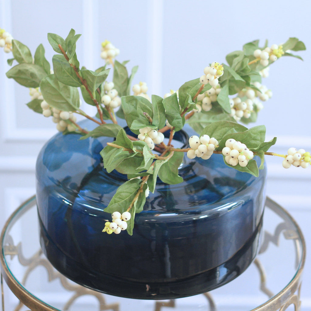 Artificial flowers luxury faux silk snowberry branch lifelike realistic faux flowers buy online from Amaranthine Blooms UK