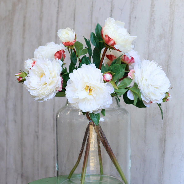 Artificial flowers luxury faux silk white original peony lifelike realistic faux flowers buy online from Amaranthine Blooms UK