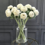 Artificial flowers luxury faux silk white ranunculus lifelike realistic faux flowers buy online from Amaranthine Blooms UK