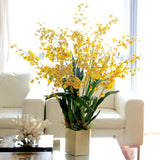 Artificial flowers luxury faux silk yellow oncidium plant lifelike realistic faux flowers buy online from Amaranthine Blooms UK