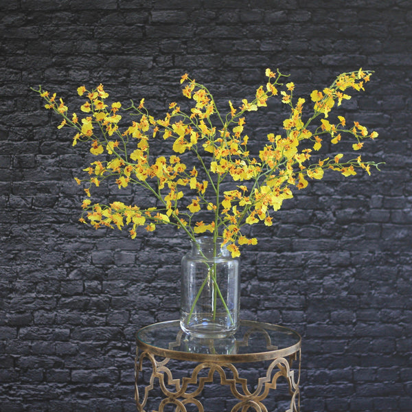 Artificial flowers luxury faux yellow oncidium lifelike realistic faux flowers buy online from Amaranthine Blooms UK