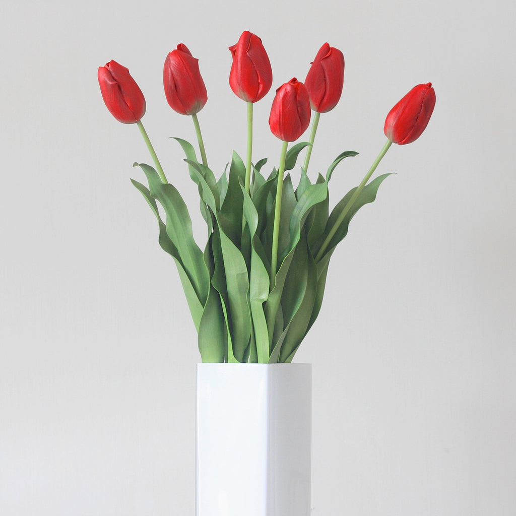 Artificial flowers luxury fauxred tulip lifelike realistic faux flowers buy online from Amaranthine Blooms UK