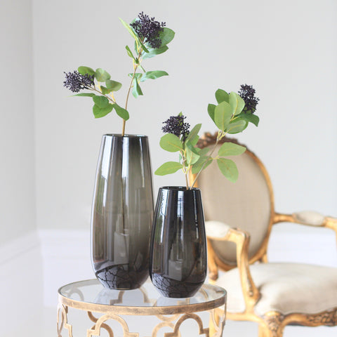 smoky grey elegant vase (various sizes)