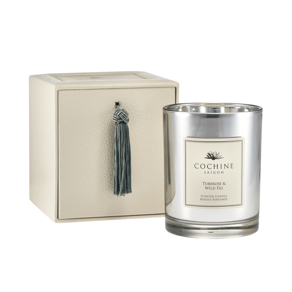 Artificial flowers luxury faux silk tuberose & wild fig scented candle with box lifelike realistic faux flowers buy online from Amaranthine Blooms UK