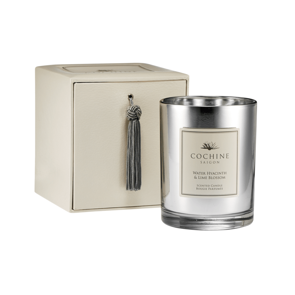 Artificial flowers luxury faux silk water hyacinth & lime blossom scented candle with box lifelike realistic faux flowers buy online from Amaranthine Blooms UK