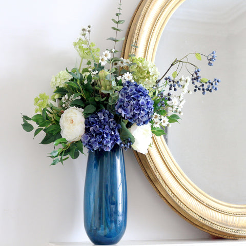 blue large elegant vase
