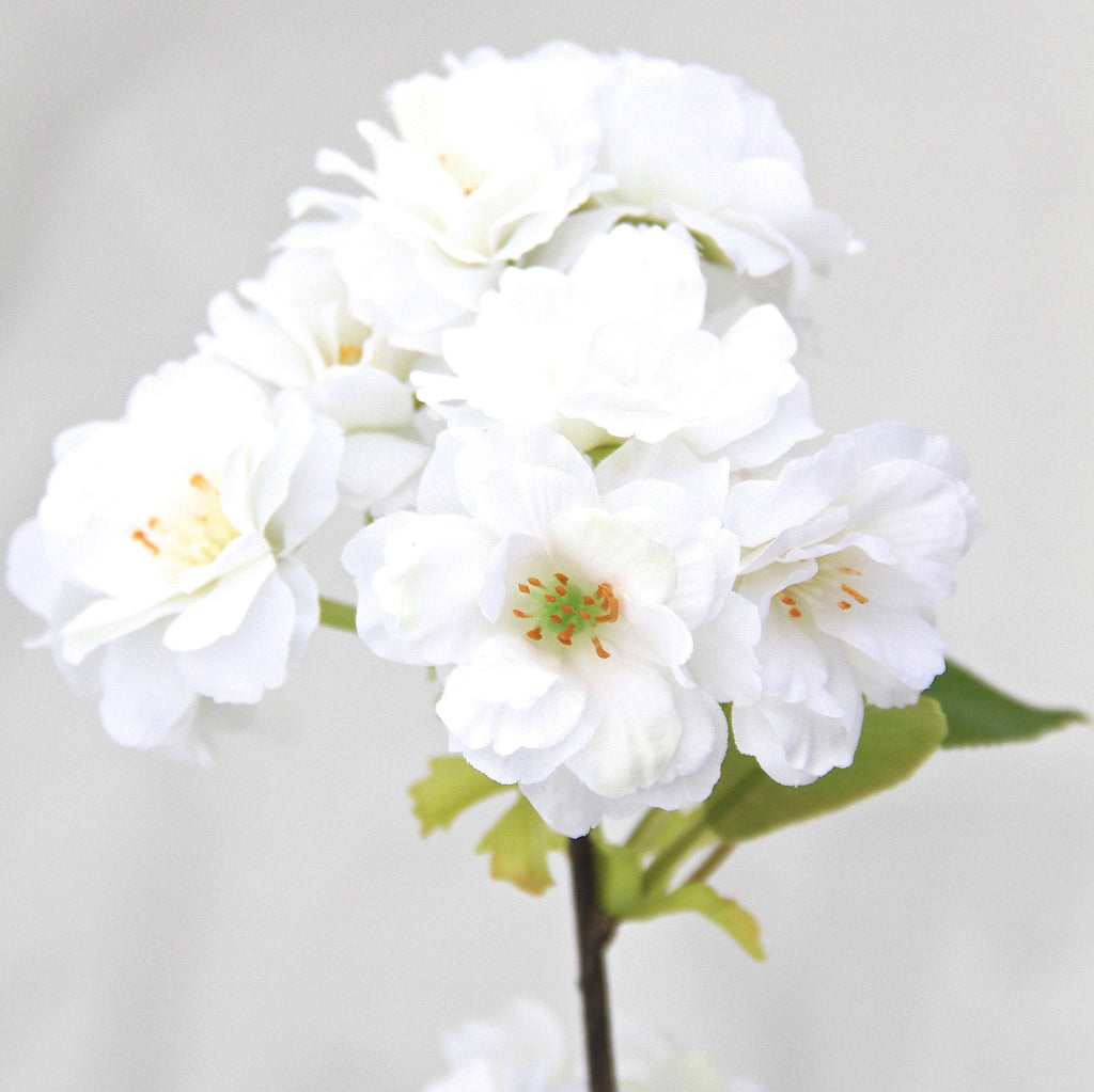 luxury artificial fake silk flowers white cherry blossom lifelike realistic faux flowers buy online from Amaranthine Blooms Hong Kong UK
