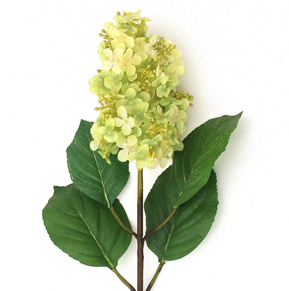 this luxury lifelike and realistic artificial green paniculata hydrangea silk flower Amaranthine Blooms in Hong Kong and UK