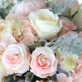 luxury artificial fake silk flowers pale pink large rose bud lifelike realistic faux flowers buy online from Amaranthine Blooms Hong Kong UK