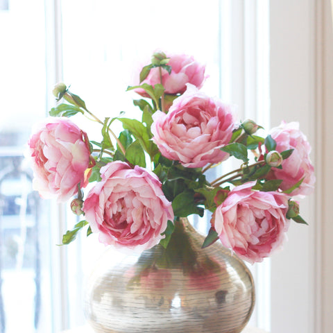 pink classic peony - bunch of 6 stems