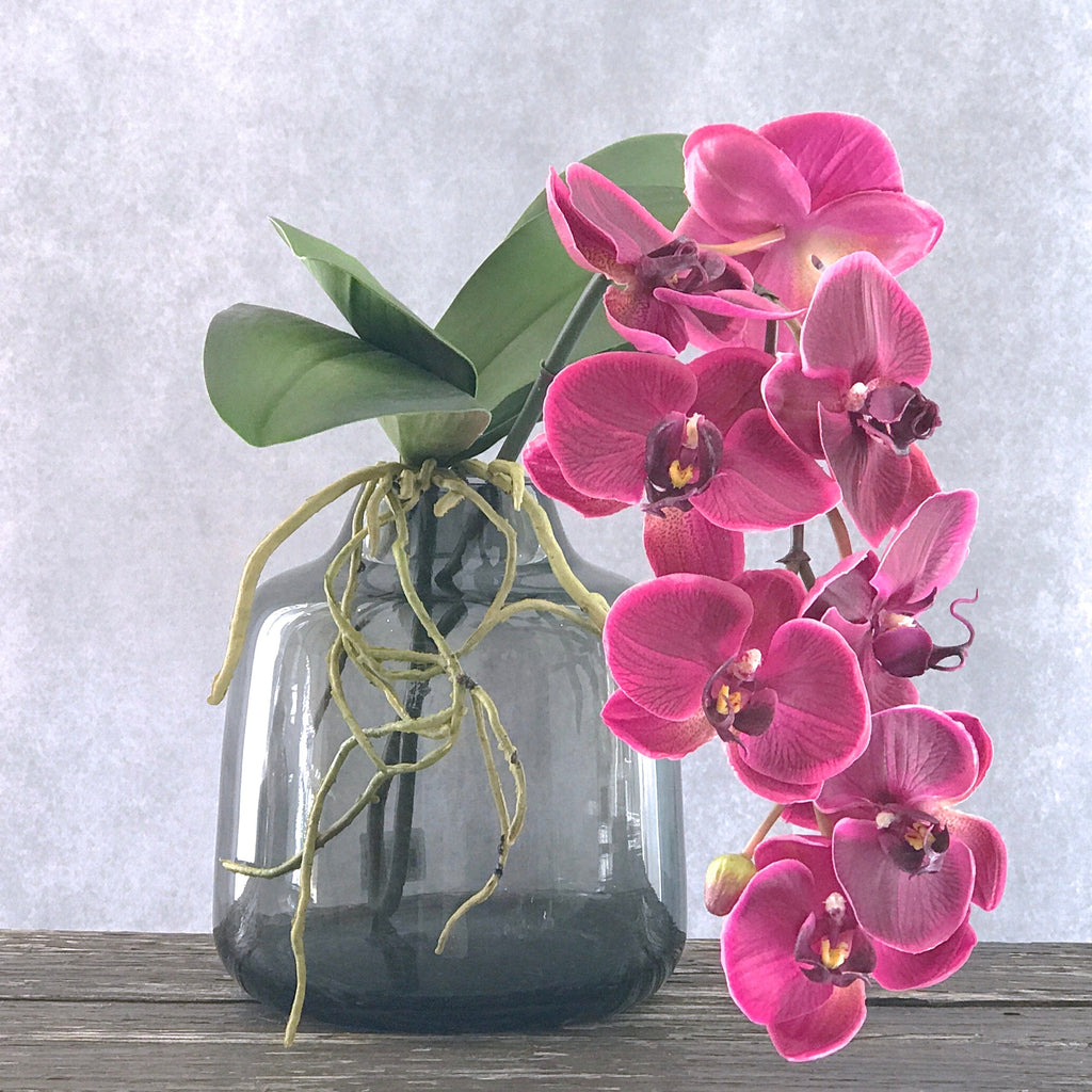 artificial flowers luxury faux silk purple phalaenopsis orchid stem lifelike realistic faux flowers buy online from Amaranthine Blooms Hong Kong UK
