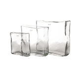 clear glass rectangle vase luxury realistic lifelike artificial silk flower and vase from Amaranthine Blooms in UK