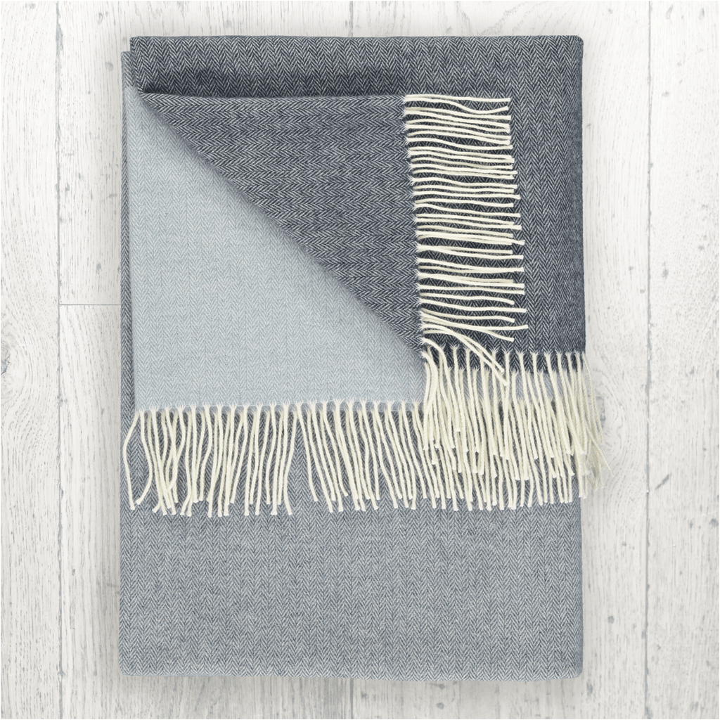 Stylish blue cashmere blend throw, home decor and accessories for your living room bedroom blue cashmere wool