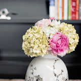 this luxury lifelike and realistic artificial pale green hydrangea - short silk flower is available from Amaranthine Blooms in Hong Kong and UK