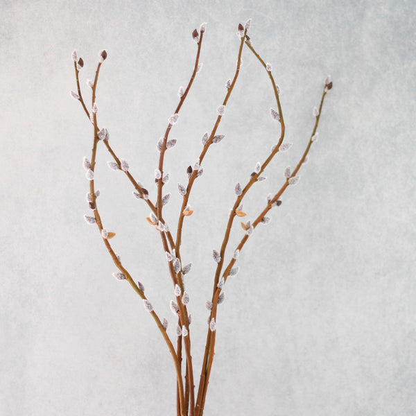 Artificial flowers luxury faux silk brown pussy willow branches lifelike realistic faux flowers buy online from Amaranthine Blooms UK