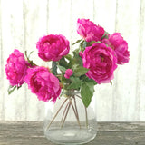 artificial flowers luxury faux silk fuchsia peony lifelike realistic faux flowers buy online from Amaranthine Blooms UK