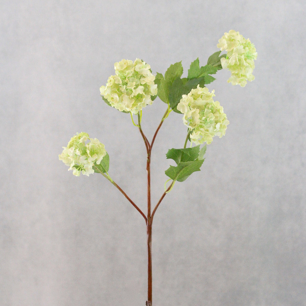 artificial flowers luxury faux silk green viburnum snowball lifelike realistic faux flowers buy online from Amaranthine Blooms Hong Kong UK