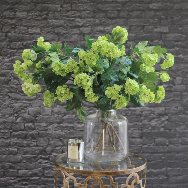 artificial flowers luxury faux silk green vivid viburnum lifelike realistic faux flowers buy online from Amaranthine Blooms Hong Kong UK
