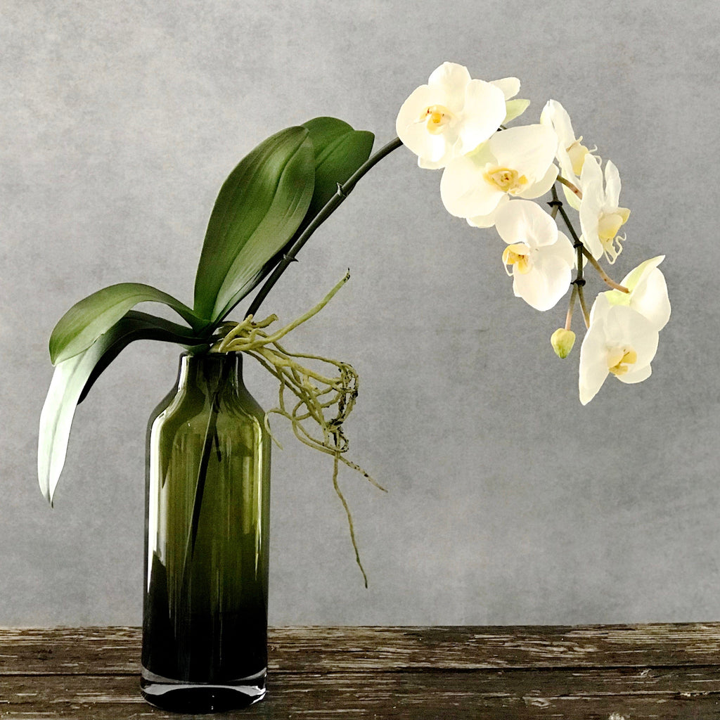 artificial flowers luxury faux silk large white orchid stem lifelike realistic faux flowers buy online from Amaranthine Blooms UK