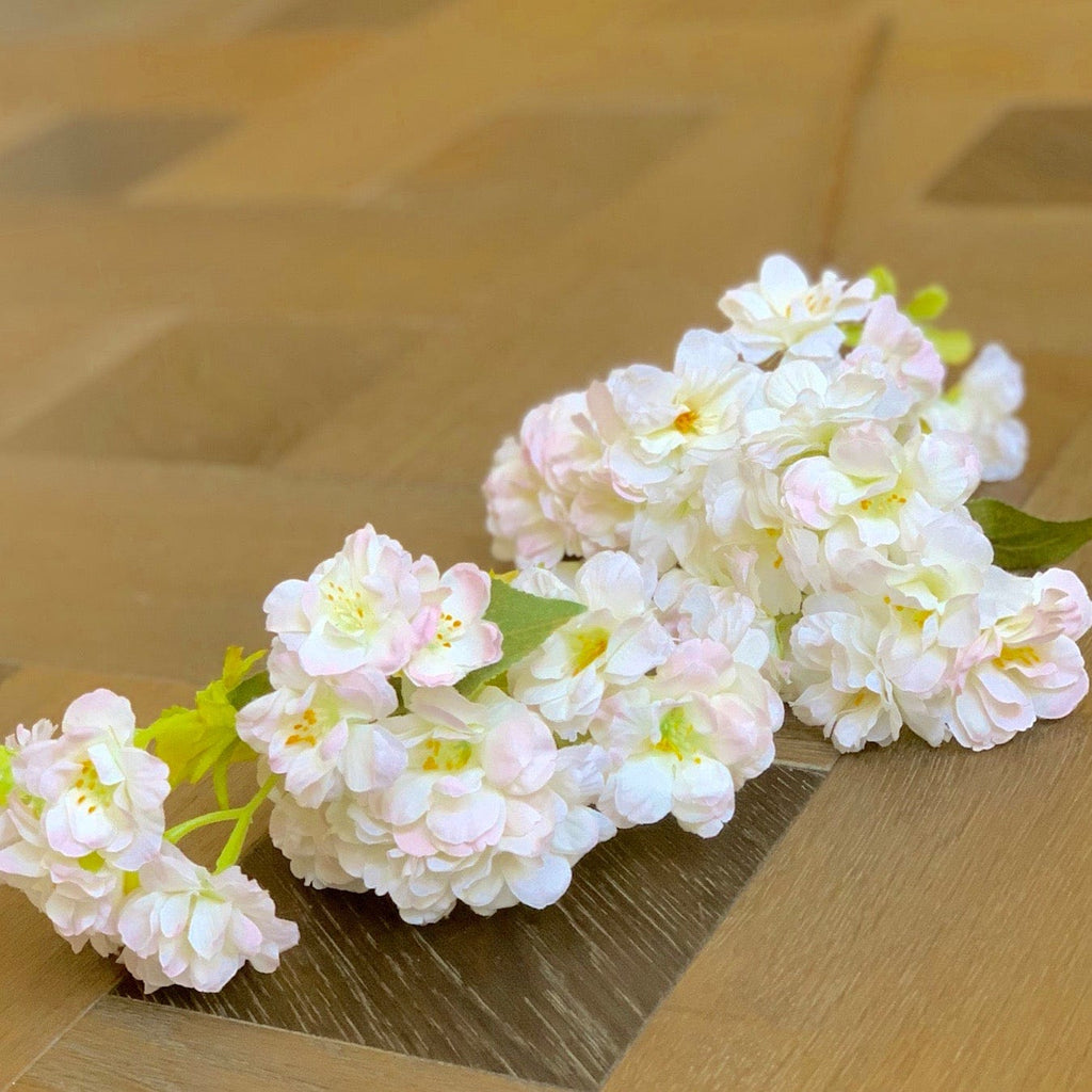 artificial flowers luxury faux silk pale pink cherry blossom lifelike realistic faux flowers buy online from Amaranthine Blooms UK