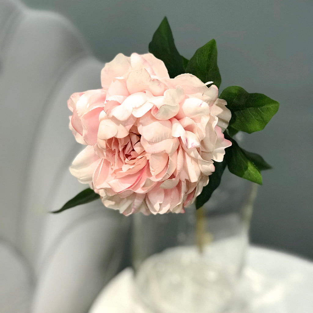 artificial flowers luxury faux silk pale pink real touch peony lifelike realistic faux flowers buy online from Amaranthine Blooms UK