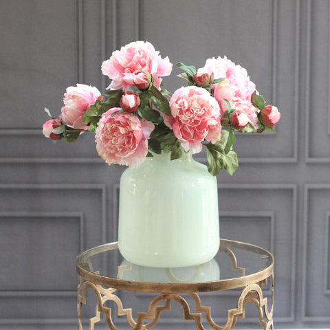 soft green perfect vase- large