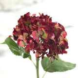 artificial flowers luxury faux silk red dried hydrangea lifelike realistic faux flowers buy online from Amaranthine Blooms Hong Kong UK