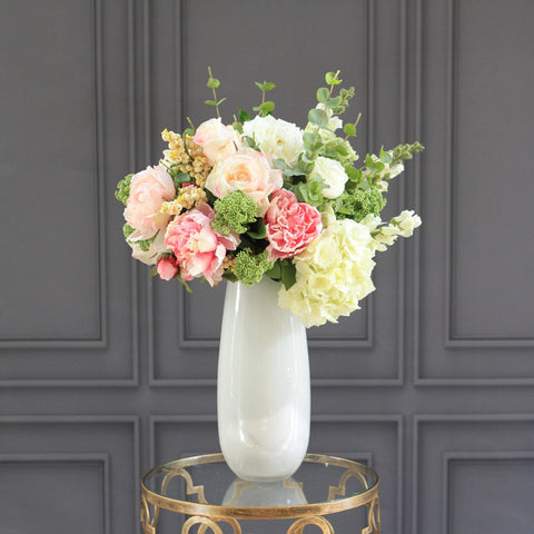 white large elegant vase
