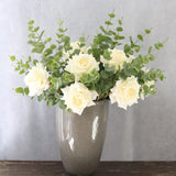 buy online this luxury lifelike and realistic artificial white hybrid tea rose silk flower is available from Amaranthine Blooms in Hong Kong and UK