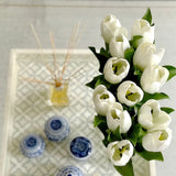 artificial flowers luxury faux silk white white short open tulip lifelike realistic faux flowers buy online from Amaranthine Blooms Hong Kong UK