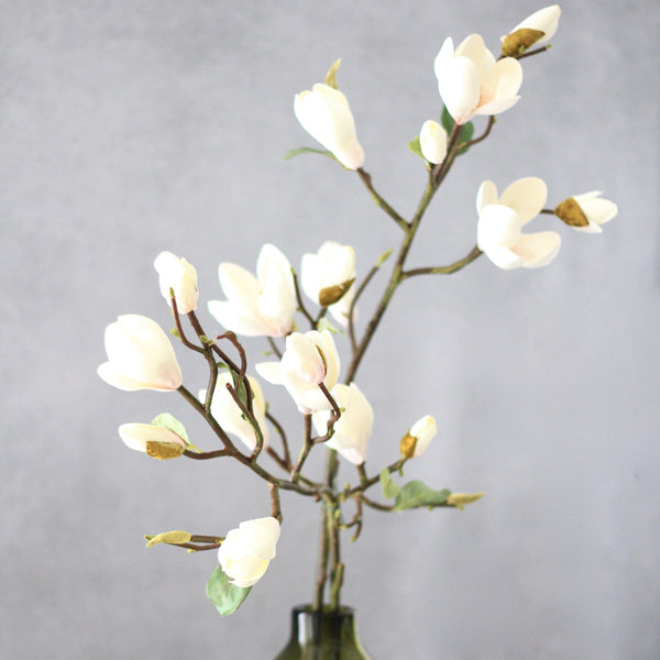 artificial flowers luxury faux silk white tall magnolia lifelike realistic faux flowers buy online from Amaranthine Blooms UK