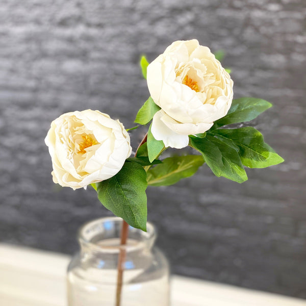 artificial flowers luxury faux silk two bloom peony lifelike realistic faux flowers buy online from Amaranthine Blooms UK