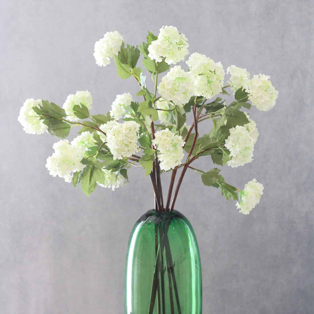 artificial flowers luxury faux silk white viburnum snowball lifelike realistic faux flowers buy online from Amaranthine Blooms Hong Kong UK