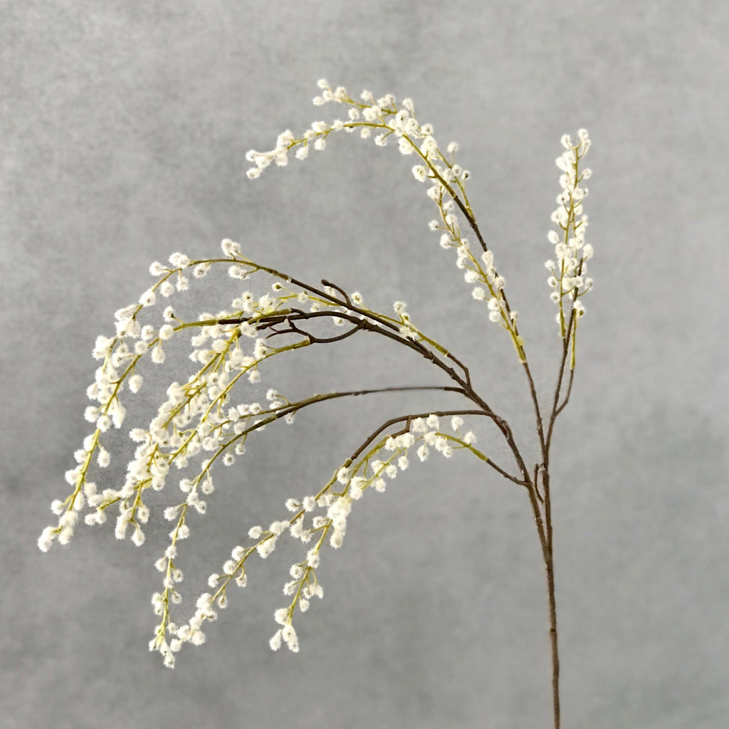 artificial flowers luxury faux silk white willow spray lifelike realistic faux flowers buy online from Amaranthine Blooms UK