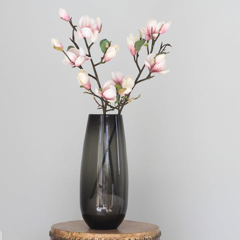 smoky grey elegant vase