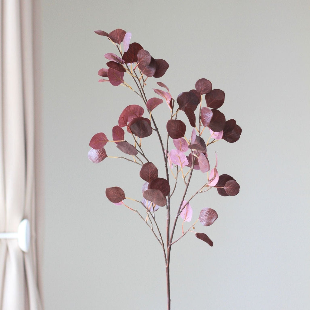 burgundy red leaf branch - bunch of 6 stems