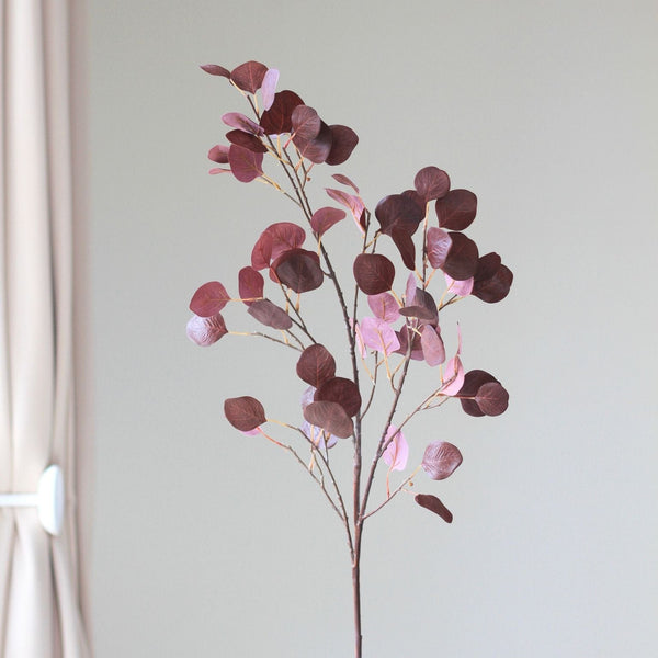 artificial flower red leaf branch luxury silk flowers