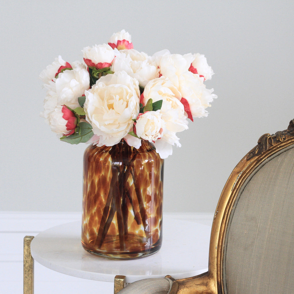 artificial flowers luxury faux silk cream original peony plant lifelike realistic faux flowers buy online from Amaranthine Blooms UK
