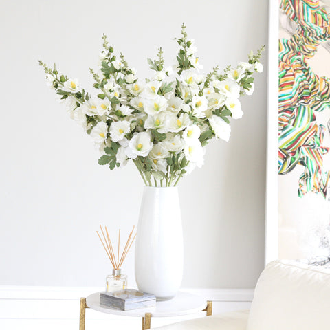 white elegant vase (various sizes)