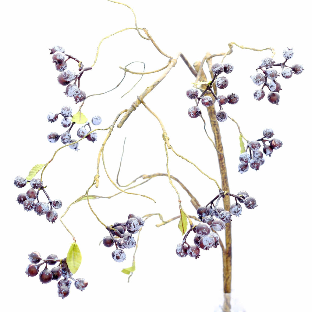 luxury artificial fake silk flowers blueberry spray lifelike realistic faux flowers buy online from Amaranthine Blooms Hong Kong UK