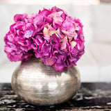 this luxury lifelike and realistic artificial pink fuchsia hydrangea silk flower is available from Amaranthine Blooms in Hong Kong and UK