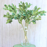 luxury artificial fake silk flowers green pittosporum leaf lifelike realistic faux flowers buy online from Amaranthine Blooms Hong Kong UK